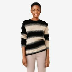 ombre for you Crewneck Sweater, Pullover, Kate Spade Saturday, Holiday Sweater, Sweater Outfits, Crew Neck, Stripes, Style Inspiration, Sweaters