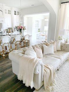Cozy Living Rooms, Living Room Interior, Home Living Room, Living Room Designs, Living Room Decor, Living Spaces, Living Area, Warm Home Decor, Affordable Home Decor