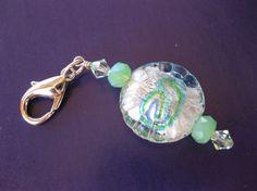 Seafoam Green Zipper Pull/Purse Charm by gedumars on Etsy, $7.00