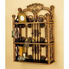 Yesteryear Wicker Wall Hanging Shelf