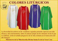 Elementos Materiales de la Liturgia   El Templo, el Altar, vestiduras del Papa, obispos y sacerdotes, colores litúrgico       BLANCO:   ...