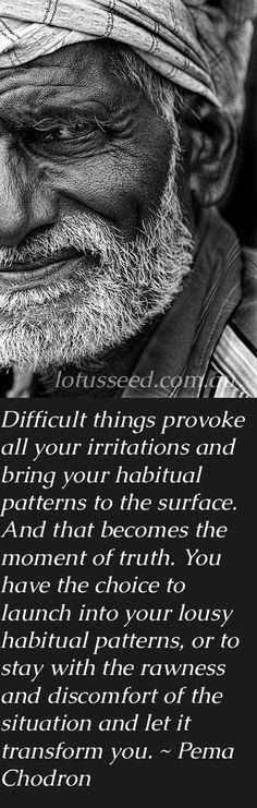No more lousy, habitual habits! I want the discomfort to become better with each passing day!