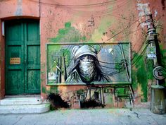 ilustradora / artista visual y grafitera italiana llamada Alice Pasquini