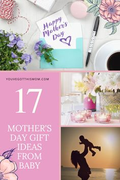 Need some easy and cute ideas that are also homemade to give mom or the grandparents for mother's day? Check out these 17 presents from a baby boy or baby girl.