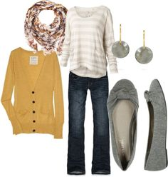 """Yellow Cardigan"" by lindsey-gray on Polyvore"