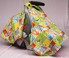 Check out this item in my Etsy shop //.etsy. Patchwork BabyCar Seat CanopyBaby ...  sc 1 st  Pinterest & Giraffe Print - Handmade Baby Car Seat Canopy Baby Shower Gift ...