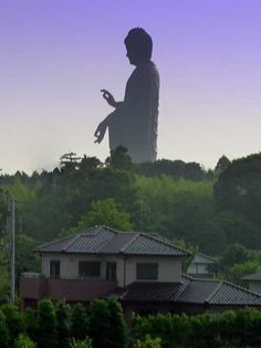 Yes, that's a real statue. Ushiku Daibutsu located in Japan's Ibaraki prefecture.