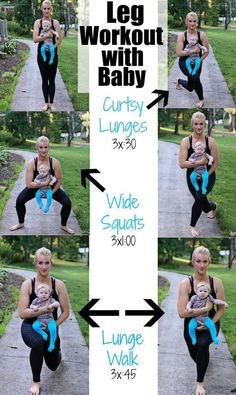 Leg Postpartum Workout Leg Workout with Baby (Boob Design) New Mom Workout, After Baby Workout, Post Baby Workout, Post Pregnancy Workout, Fitness Workouts, Great Leg Workouts, Fitness Motivation, At Home Workouts, Maternity Workout Clothes