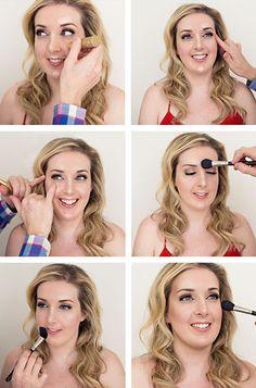 Contour beauty strobing - just use a highlighter Show Makeup, Makeup Tips, Beauty Makeup, Hair Beauty, Makeup Basics, Contour Makeup, Kiss Makeup, Contouring And Highlighting, Face Makeup