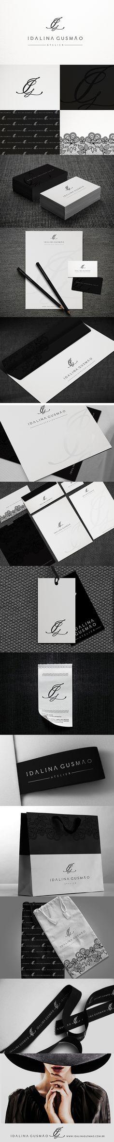 Posicionamento da marca Idalina Gusmão, estilista que assina uma moda sofisticada e em dia. Um luxo!!!! Projeto: Branding Designer: Priscila Áquila (identidade corporativa) e Pedro Áquila (marca)