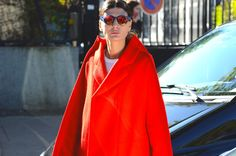 Gianluca Senese Giovanna Battaglia paris fashion week street style kenzo