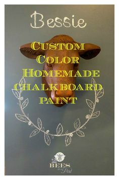 Custom Color Homemade Chalkboard Paint and Wall - with this recipe you can create any color chalkboard wall that you want!