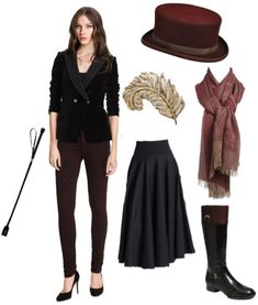 2013-01-25-DowntonCollage.jpg I particularly love the riding hat. :) This with a tailored jacket looks awesome.