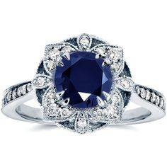 Shop a great selection of Kobelli Antique Floral Sapphire Diamond Engagement Ring 1 Carat (ctw) White Gold. Find new offer and Similar products for Kobelli Antique Floral Sapphire Diamond Engagement Ring 1 Carat (ctw) White Gold. White Gold Sapphire Ring, Sapphire Diamond Engagement, Floral Engagement Ring, Round Cut Engagement Rings, Sapphire Jewelry, Antique Engagement Rings, White Gold Rings, Rose Gold, Emerald Diamond
