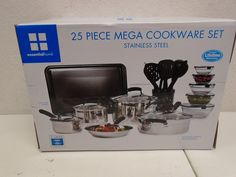 Essential Home TTU-Q4855 25-Piece Stainless Steel Mega Cookware Set * Check out the image by visiting the link.