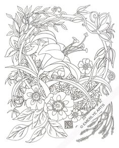 Cynthia Emerlye, Vermont artist and life coach: Daylily Circle - an Adult Coloring Page