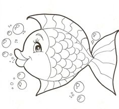 Fish coloring page Fish Coloring Page, Animal Coloring Pages, Colouring Pages, Adult Coloring Pages, Coloring Pages For Kids, Coloring Sheets, Coloring Books, Applique Patterns, Wool Applique