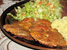 Kotleciki z filetu kurczaka i majonezu Snack Recipes, Cooking Recipes, Snacks, Polish Recipes, Polish Food, Tandoori Chicken, Food And Drink, Turkey, Keto