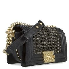 Chanel Braided Sheep Le Boy Classic Flap Sale Sold Out Runway Style Rare Black Cross Body Bag.