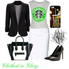 """""""Starbucks Here I Come"""" by clothed-in-glory on Polyvore"""