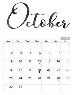 2017 October - Free printable Sheet