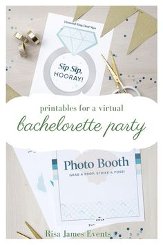 If you've had to cancel your bachelorette party due to coronavirus, this post is full of fun printables that you and your friends can print at home, then get together on a video call and party virtually! Bachlorette Party, Bachelorette Party Invitations, Bridal Shower Invitations, Bachelorette Parties, Bridal Shower Games, Bridal Shower Decorations, Bridal Showers, Wedding Advice, Party Photos