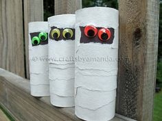 Cardboard tube mummies...
