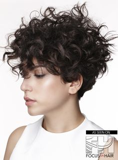 Most up-to-date Free cute short curly hairstyle Thoughts Quick curly hair-styles aren't the movement via days gone by, but is a fresh look which is taken A Curly Pixie Cuts, Short Curly Haircuts, Short Hair Cuts, Hairstyle Short, Curly Pixie Hairstyles, 1980s Hairstyles, Curly Short Bobs, Curly Bob, Short Natural Curly Hair