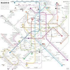 Madrid INAT metro map
