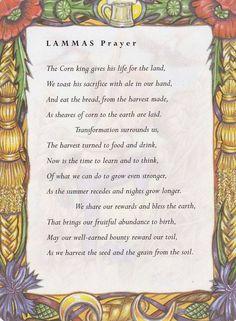 Sabbats and Esbats - Lammas Prayer                                                                                                                                                                                 More