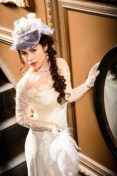500画像以上ドレス別!似合う髪形絶対みつかる!結婚式・披露宴のヘアスタイル【ウェディングドレス編】 - NAVER まとめ