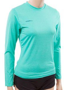 O Neill Wetsuits UV Sun Protection Women s 24-7 Hybrid Long Sleeve Tee Sun Shirt  Rash Guard d5d0a68fd2e