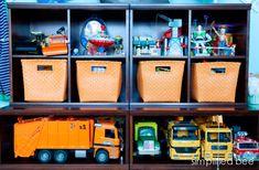 boys bedroom toy storage // Simplified Bee