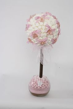 Lovely pastel sweet tree for wedding table decorations.