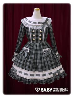 Baby, the stars shine bright MY ANNIVERSARY one piece dress with tartan check ribbon