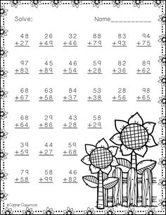 Fractions Worksheets, School Worksheets, First Grade Math, Fourth Grade, Second Grade, Addition Activities, Math Sheets, Math Numbers, Teacher Tools