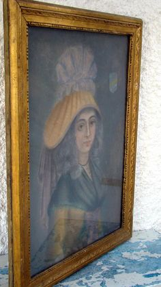Portrait De Dame Normande Sous Charles X C1830 Aux Pastels