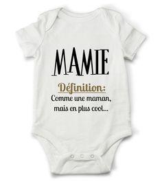Body grenouillère définition de mamie... : Mode Bébé par creatike