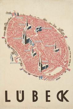 Lübeck, Germany, design: Alfred Mahlau, 1934