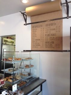 @Meredith Dlatt Goodwin awesome idea for a constantly changing menu.  (Dogtown Coffee, LA)