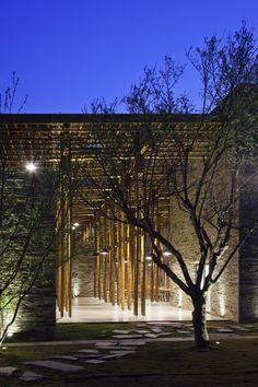 Son La Restaurant. Location: Son La, Son La, Vietnam; firm: Vo Trong Nghia Architects; photos: Hiroyuki Oki; year: 2014.