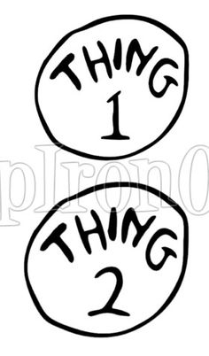 Fussy Monkey Business Dr Seuss Thing 1  Thing 2 Shirts  how