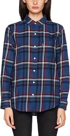 Super, sehr schön - TOP  Bekleidung, Damen, Tops, T-Shirts & Blusen, Blusen & Tuniken Shirt Bluse, Super, Indigo, Plaid, Pocket, Tops, Women, Fashion, Clothing