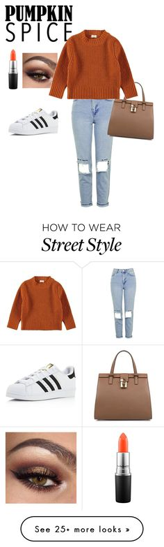 """Slaying the streets- pumpkin weather"" by iamzcookie on Polyvore featuring Topshop, adidas, Dolce&Gabbana and MAC Cosmetics"