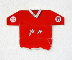 Leo Fitzmaurice, 'Post Match, Untitled Chinese' 2013, Folded cigarette-packet top.