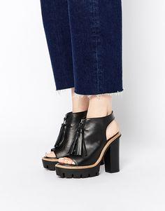 KG+By+Kurt+Geiger+Solace+Black+Leather+Platform+Shoe+Boots
