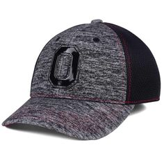9449791f292 Ohio State Buckeyes J America Jersey Flex Heathered Gray Fitted M L Cap Hat