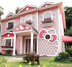 Kawaii influence takes the quality from Harajuku to the homefront with an entire Hello Kitty house.