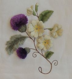 These thistles are beautiful!  Weekend stitching – part 2