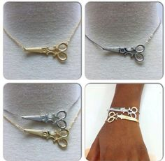 scissors on a bracelet.. i must have this